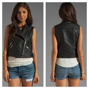 MM Couture by Miss Me vegan leather moto vest